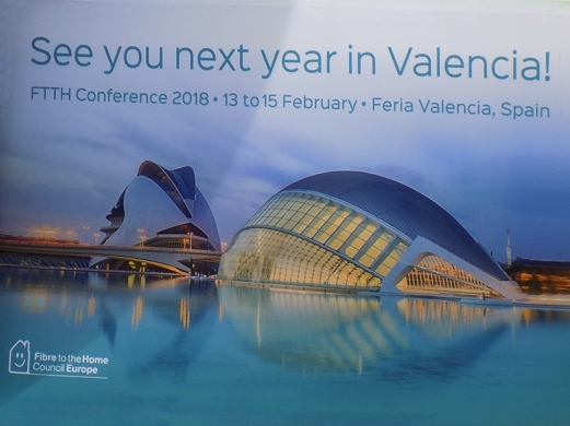 See You next Year in Valencia, Spain – FTTH Conference 2018.